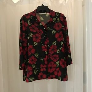 French Laundry medium floral blouse